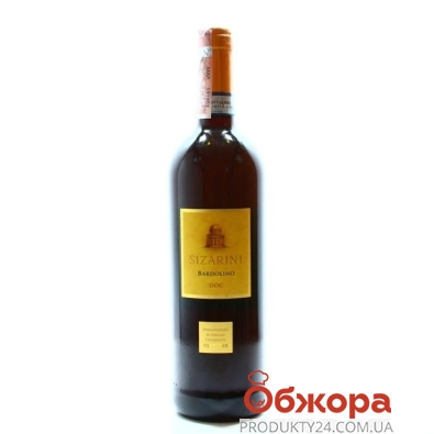 Вино Sizarini Bardolino червоне сухое 0,75 л – ИМ «Обжора»