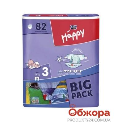 Подгузники BELLA HAPPY миди 5-9 кг. 82 шт – ИМ «Обжора»