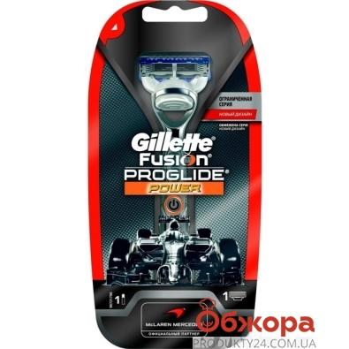 Станок Джилет (Gillette) FUSION ProGlide Power Silver + 1 картр. – ИМ «Обжора»