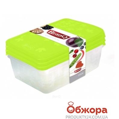 Компл. ёмкостей BRQ для морозилки прямоуг. RUKKOLA 3шт (2х0,9+1,35) 1135 – ИМ «Обжора»