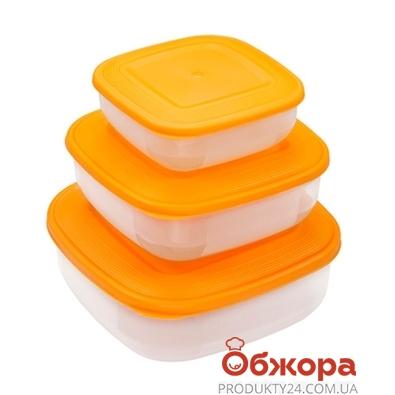 Компл. ёмкостей MTM для морозилки квадр. (1,5-1,0-0,5л) 2135 – ИМ «Обжора»