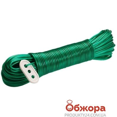 Шнур MTM бельевой 20м ПВХ метализ. с натяжкой 3254 – ИМ «Обжора»