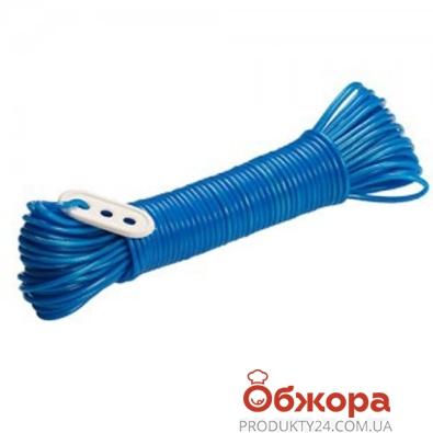 Шнур MTM бельевой 30м ПВХ метализ. с натяжкой 3255 – ИМ «Обжора»
