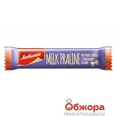 Батончик Любимов молочный с пралине 12,5г – ИМ «Обжора»
