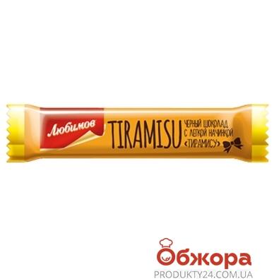Батончик Любимов черный тирамису бисквит 12,5г – ИМ «Обжора»