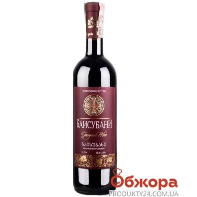 Вино Грузия Киндзмараули (Kindzmarauli) Баисубани красное п/сл. 0,75л – ИМ «Обжора»