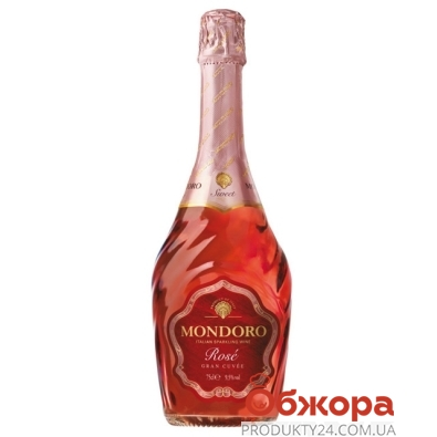 Вино игристое Мондоро (Mondoro) Rose розовое сладкое 0.75 л – ИМ «Обжора»