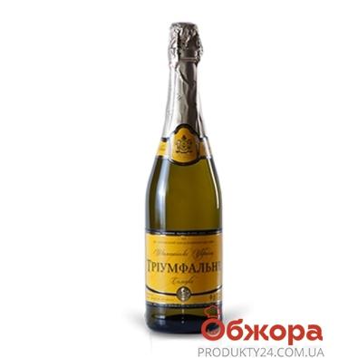 Вино игристое Харьковский ЗШВ Триумфальное белое сладкое 0,75л – ИМ «Обжора»