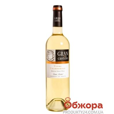 Вино Гран Кастильо (Gran Castillo) Виура Шардоне белое п/сл. 0,75л. – ИМ «Обжора»