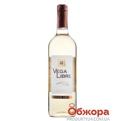 Вино Вега Либре (Vega Libre) белое п/сл 0,75 л – ИМ «Обжора»