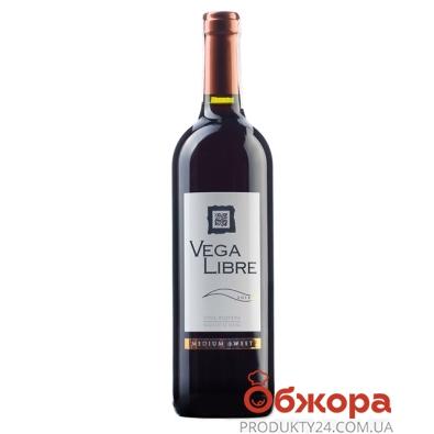 Вино Вега Либре (Vega Libre) красное п/сл 0,75л – ИМ «Обжора»