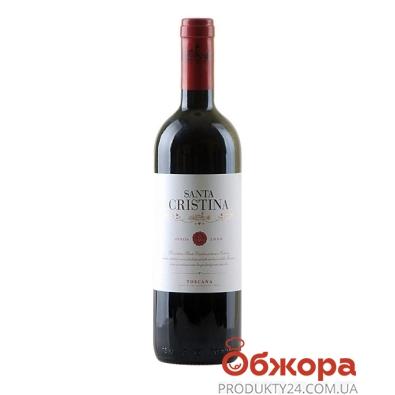 Вино Антинори Санта Кристина (Santa Cristina) красное 0.75л. – ИМ «Обжора»