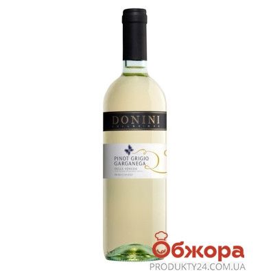 Вино Донини (Donini) Пино Гриджио белое сухое 0,75 л – ИМ «Обжора»