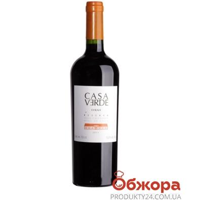 Вино  Каса Верде (Casa Verde) Reserva Сира красное сухое 0,75л – ИМ «Обжора»