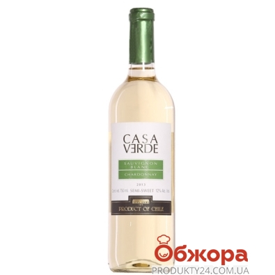 Вино Чили Каса Верде (Casa Verde) Совиньон Блан белое сухое 0,75л – ИМ «Обжора»