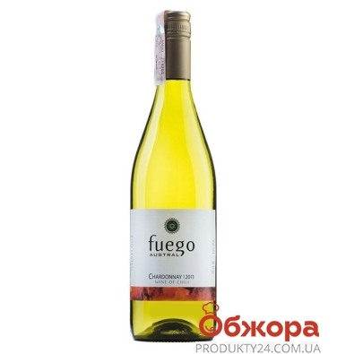 Вино Фуэго Аустрал (Fuego Austral) Шардоне белое сухое 0,75 л – ИМ «Обжора»