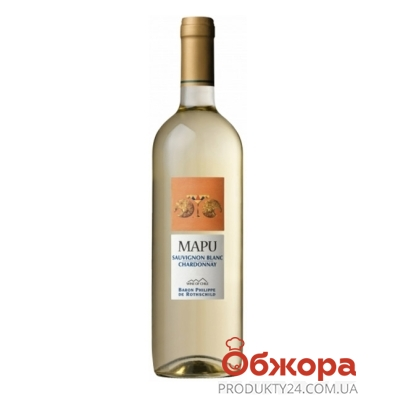 Вино Мапу (Mapu) Совиньон Блан Шардоне белое сухое 0,75 л – ИМ «Обжора»