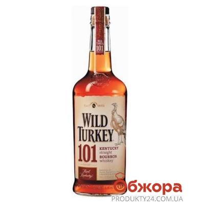 Виски Бурбон Уайлд Тёки (Wild Turkey) 101 0,7 л – ИМ «Обжора»