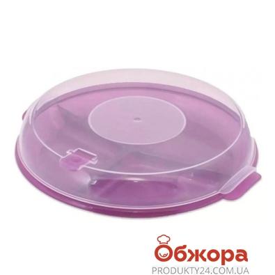 Тарелка BRQ для СВЧ с крышкой 1187 – ИМ «Обжора»