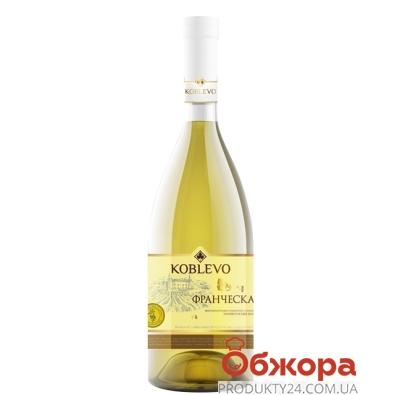 Вино Коблево (KOBLEVO) Франческа белое п/сл 0.7 л – ИМ «Обжора»
