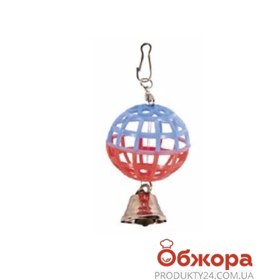 Игрушка Природа для попугая Шарик с колокольчиком – ИМ «Обжора»