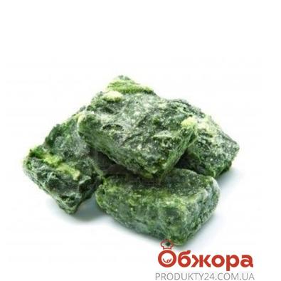 Замороженные овощи Рудь Шпинат (мелкорублен.,прессован.) вес. – ИМ «Обжора»