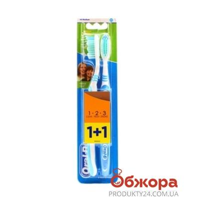 Зубная щетка Джилет (Gillette) ORAL- B Эффект 1+1 40 сред. – ИМ «Обжора»