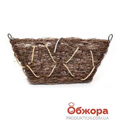 Кашпо плетенное корзина прямоуг.D30см 21-2002 – ИМ «Обжора»