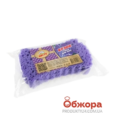 Губка банная Чисто сирень 1 шт – ИМ «Обжора»