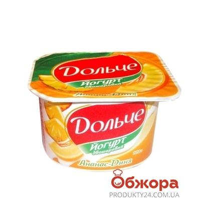Йогурт Дольче ананас-дыня 3,2% 115 г – ИМ «Обжора»