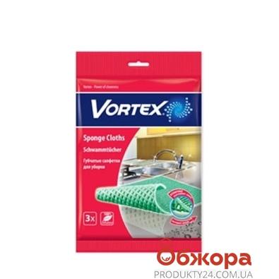 Губка Вортекс (Vortex) целюлоз. большая 3 шт – ИМ «Обжора»