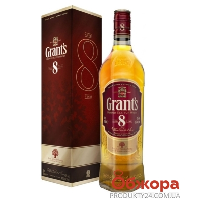Виски Грантс (Grants) 8 лет 0.7 л – ИМ «Обжора»