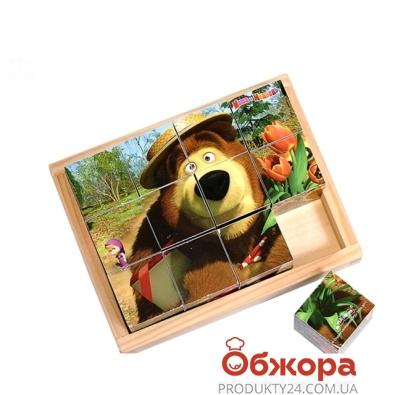 Пазл Маша и Медведь дер. GT5074 12 дет. – ИМ «Обжора»