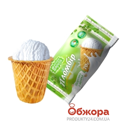 Мороженое Белая Береза Пломбир в сахарном стакане 70 г – ИМ «Обжора»