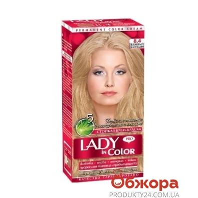 Краска Леди ин колор (Lady in color) для волос N8.4 бежевый блондин – ИМ «Обжора»