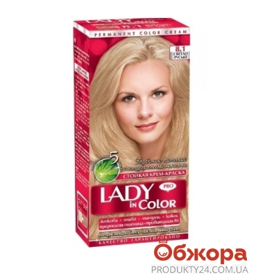 Краска Леди ин колор (Lady in color) для волос N8.1 светло-русый – ИМ «Обжора»