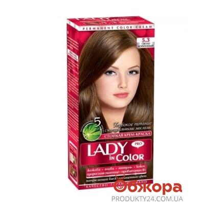 Краска Леди ин колор (Lady in color) для волос N5.3 светло-коричневый – ИМ «Обжора»