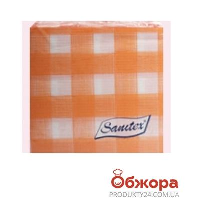 Салфетки Санитекс  100 33х33 цветные 1 слой ,100% целюл.с печат. – ИМ «Обжора»