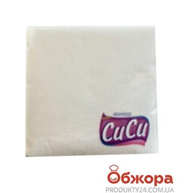 Салфетки Сиси 60 33х33 белые 1 слой /100% целюл. – ИМ «Обжора»