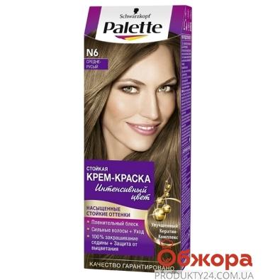 Краска Палетте (Pallete) для волос средне-русый N-6 – ИМ «Обжора»