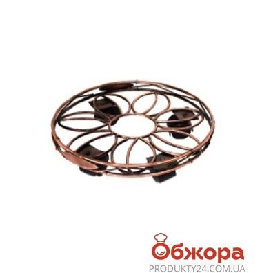 Подставка для кашпо напольная на колесах узор D30см 21-4002 – ИМ «Обжора»