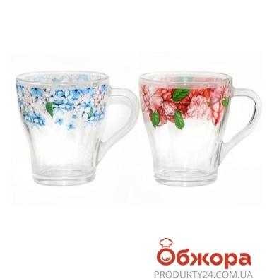 Кружка Грация Цветы Акварель стекл.250 мл 85003124 – ИМ «Обжора»