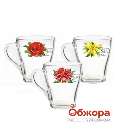 Кружка Грация Valse des fleurs стекл.250 мл 85002771 – ИМ «Обжора»