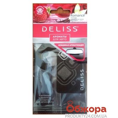 Освежитель картонный Делисс (Deliss) Romance для авто – ИМ «Обжора»