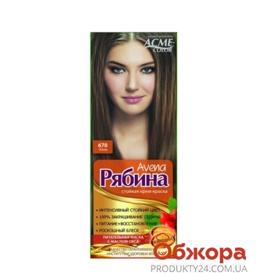 Краска Рябина AVENA для волос N670 Ольха* – ИМ «Обжора»