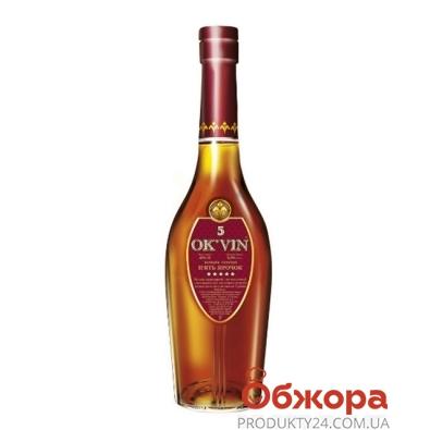 Коньяк Крым Оквин (OK`VIN) 5* 0,25 л – ИМ «Обжора»