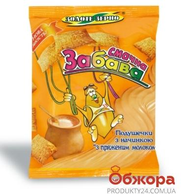 Кукурузные подушечки Золотое зерно Забава топл.молоко 100 г – ИМ «Обжора»