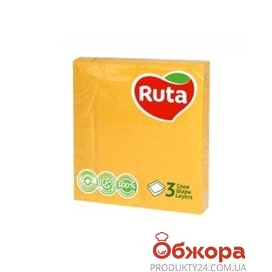 Салфетки Рута 20л Колор желтые – ИМ «Обжора»