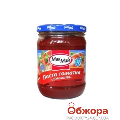 Томатная паста Мак Май домашняя 500г ст. – ИМ «Обжора»