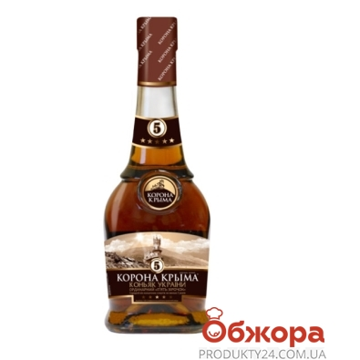 Коньяк Корона Крыма 5* 0,5 л – ИМ «Обжора»